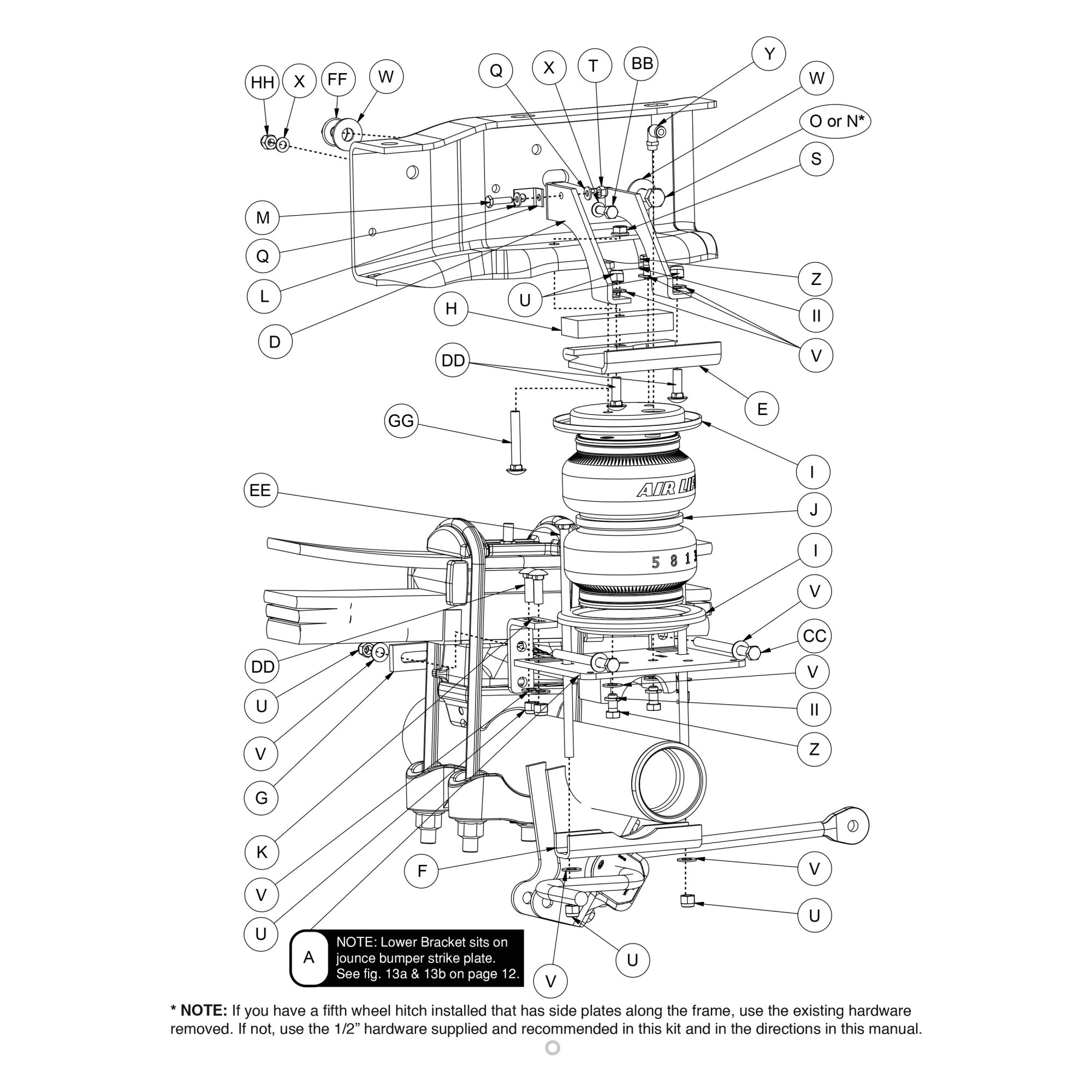 hight resolution of for ford f 250 super duty 11 16 air lift loadlifter 5000 rear air spring kit