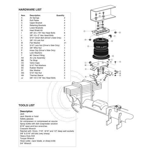 small resolution of  lift loadlifter 5000 ultimate rear air spring