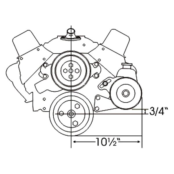 For Chevy Caprice 1966-1972 Alan Grove 402L Power Steering