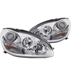 details about for mercedes benz s430 2000 2005 anzo 121092 chrome projector headlights [ 1000 x 1000 Pixel ]