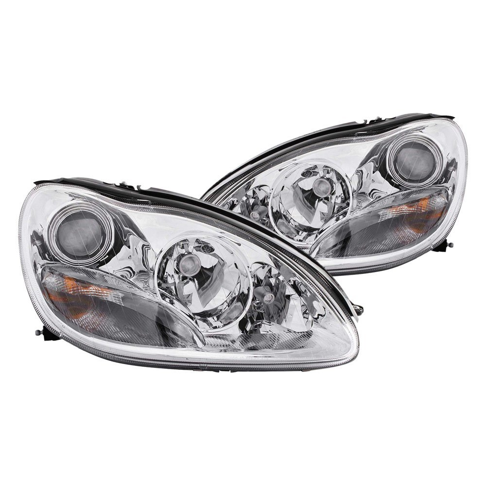 medium resolution of details about for mercedes benz s430 2000 2005 anzo 121092 chrome projector headlights