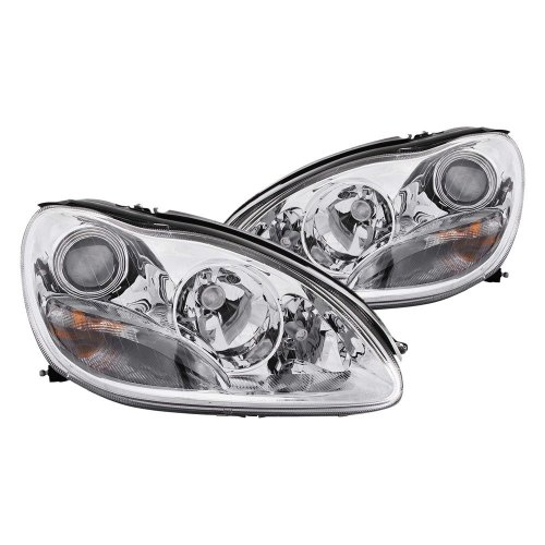 small resolution of details about for mercedes benz s430 2000 2005 anzo 121092 chrome projector headlights