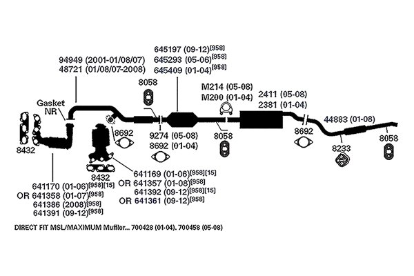 32 2001 Ford Escape Exhaust System Diagram