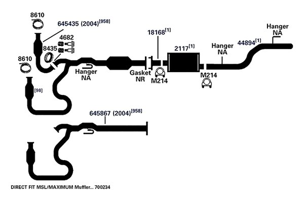 exhaust pipe ap exhaust 18168
