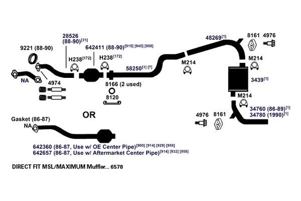 1990 Buick Century Exhaust Diagram. Buick. Auto Parts