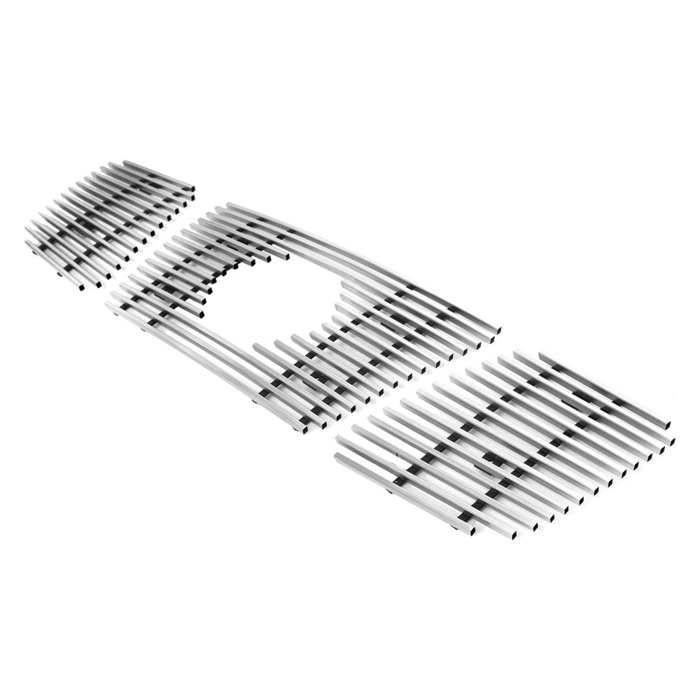 For Nissan Titan 04-07 APG 3-Pc Silver Hairline Horizontal