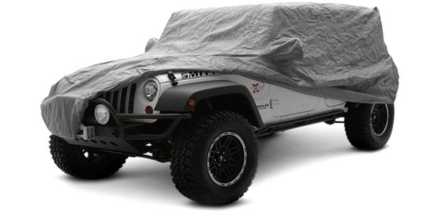 Gray Smittybilt Car Cover