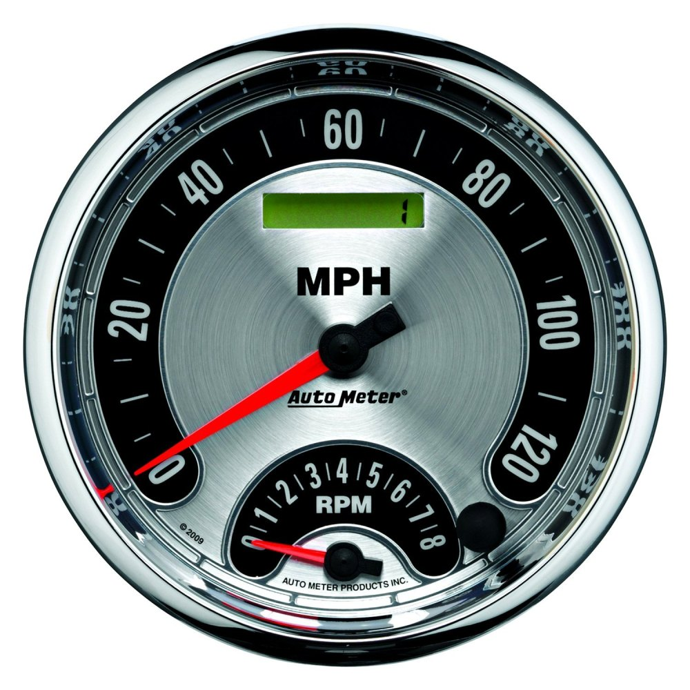 medium resolution of auto meter american muscle series 5 tachometer speedometer combo gauge