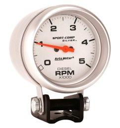 auto meter ultra lite series 2 5 8 pedestal tachometer gauge  [ 1500 x 1500 Pixel ]