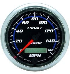 auto meter cobalt series 3 3 8 speedometer gauge 0 [ 1500 x 1500 Pixel ]