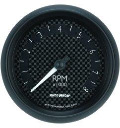 auto meter gt series 3 3 8 in dash tachometer [ 1500 x 1500 Pixel ]