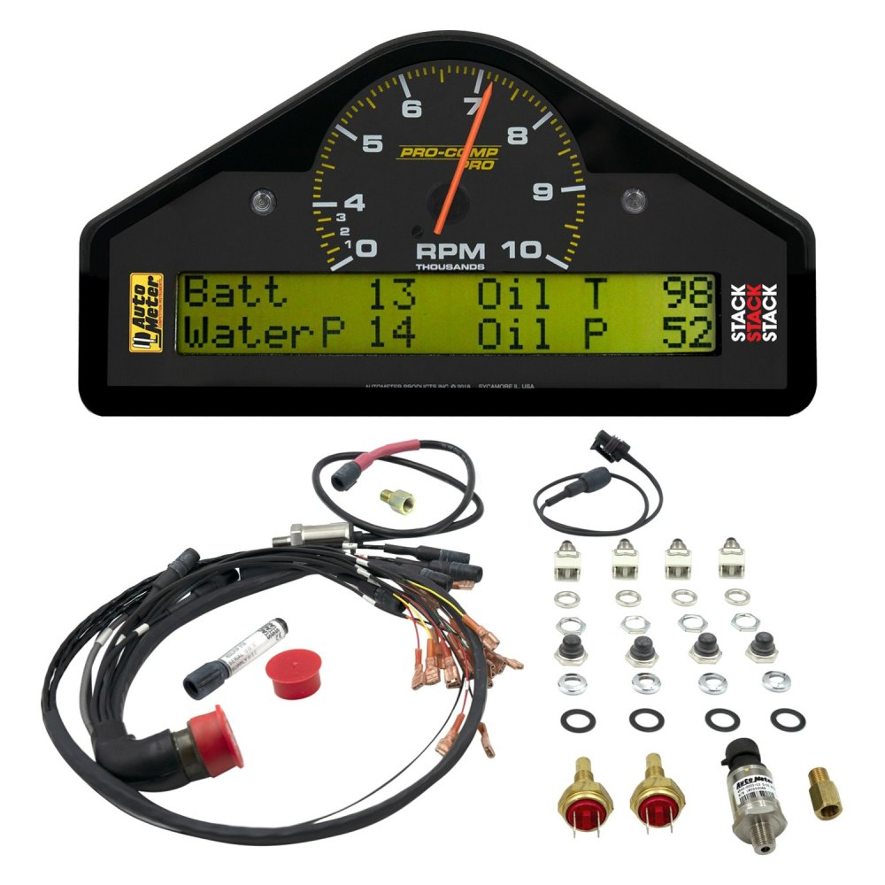 medium resolution of  displayauto meter pro comp series race dash display
