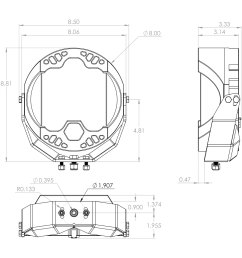 designs lp9 sport 8 61w 24w round spot beam amber led light light beam [ 1500 x 1500 Pixel ]