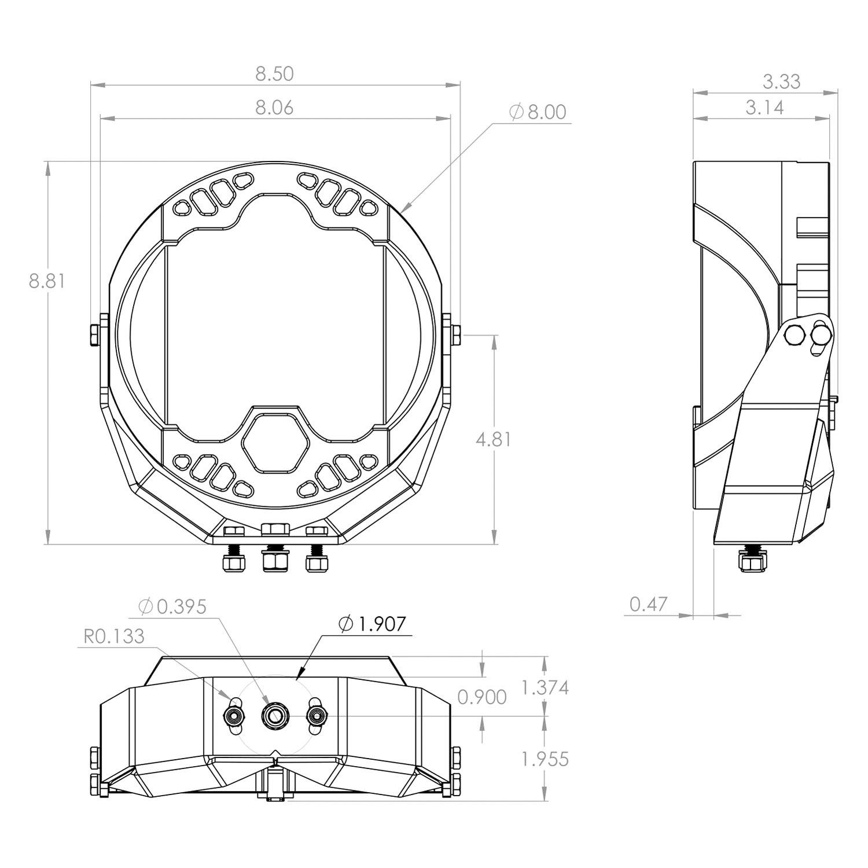 hight resolution of  designs lp9 sport 8 61w 24w round spot beam amber led light light beam