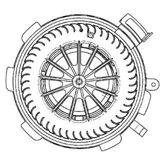 For Mercedes-Benz Sprinter 2500 2010-2017 Behr HVAC Blower