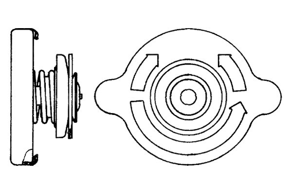 For Porsche 968 1992-1995 Behr Engine Coolant Expansion