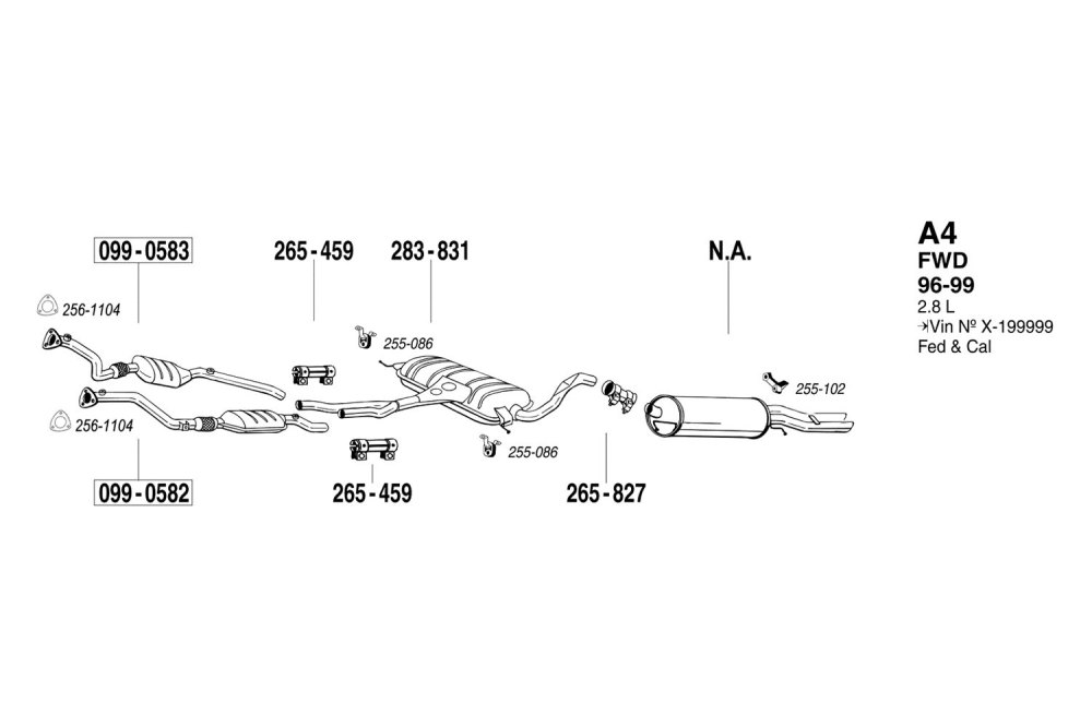 medium resolution of bosal replacement exhaust kit