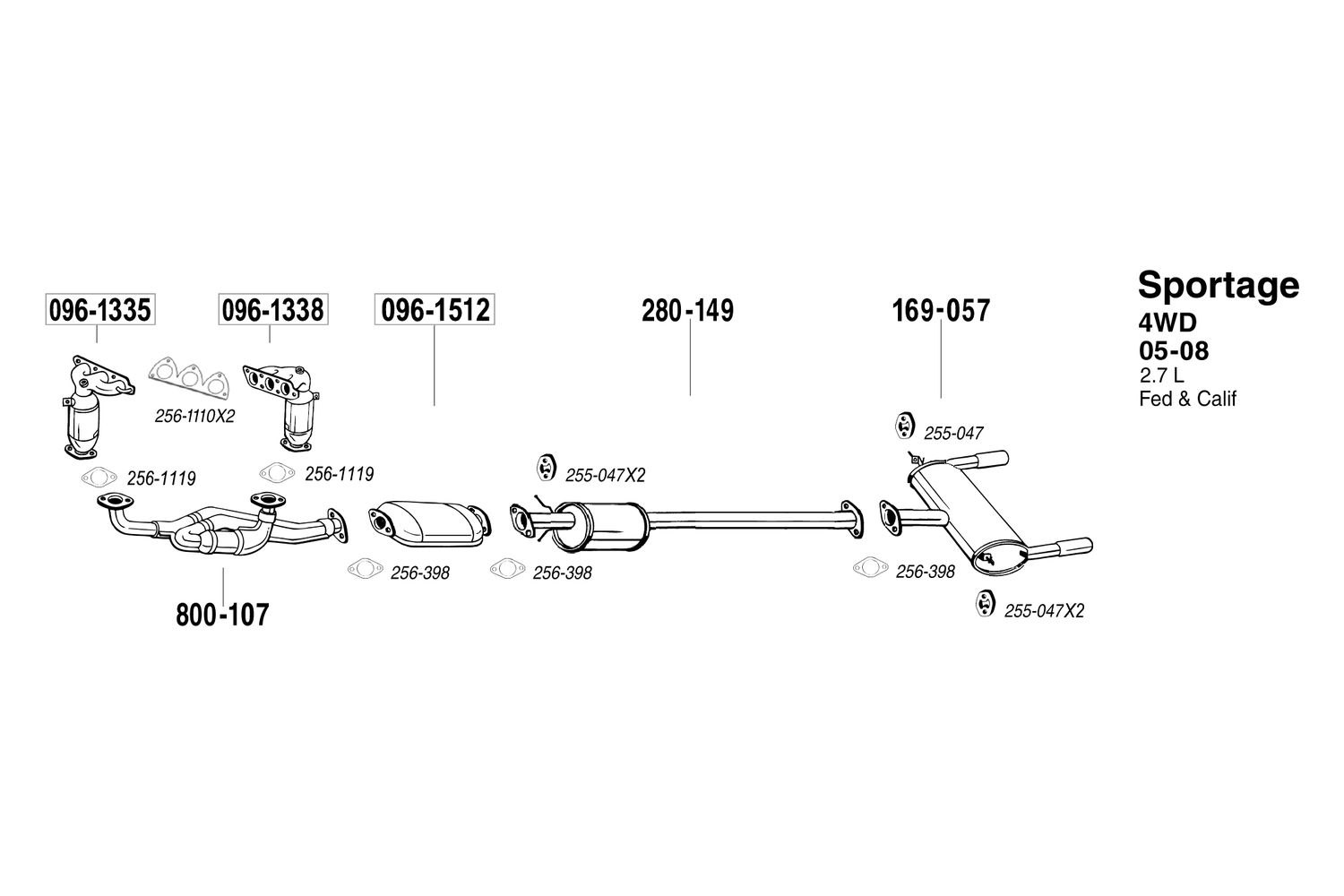 hight resolution of  replacement exhaust kit