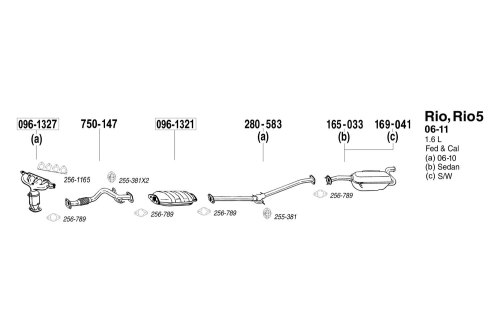 small resolution of bosal replacement exhaust kit