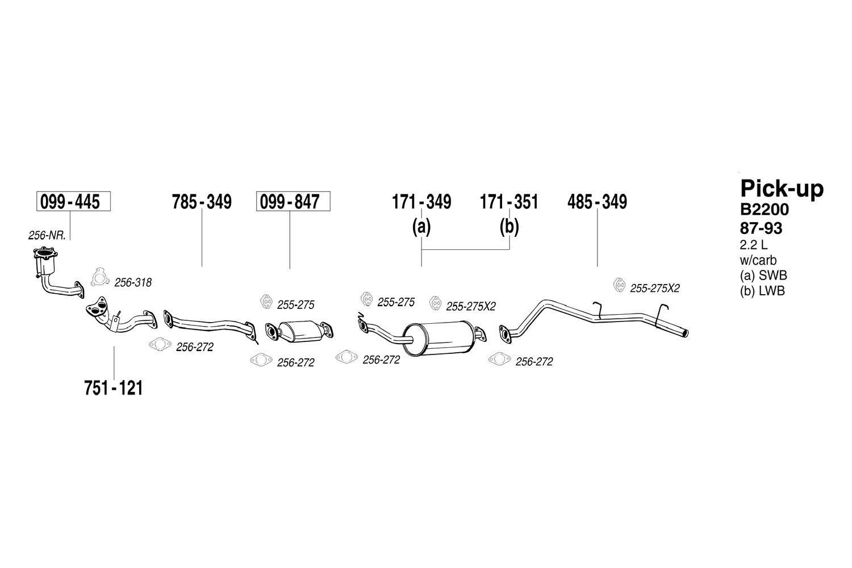 hight resolution of mazda b2200 exhaust diagram wiring diagram img mazda b2200 exhaust diagram bosal mazda b series