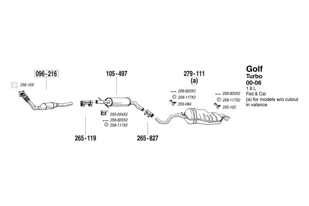 medium resolution of vw exhaust diagram