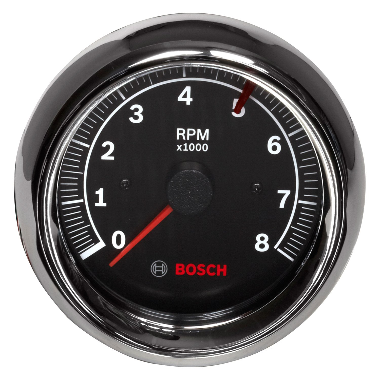 hight resolution of bosch sport ii 3 3 8 tachometer black 8000