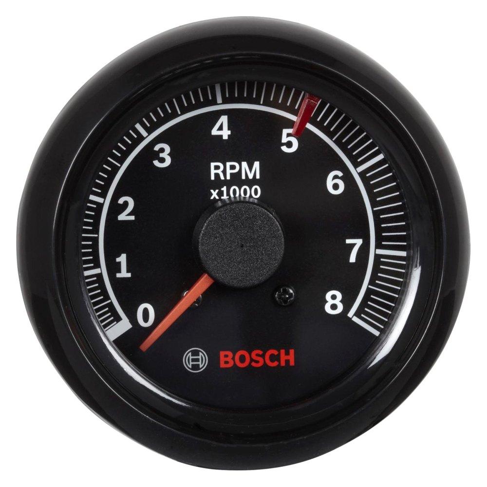 medium resolution of bosch sport ii 2 5 8 tachometer black 8000