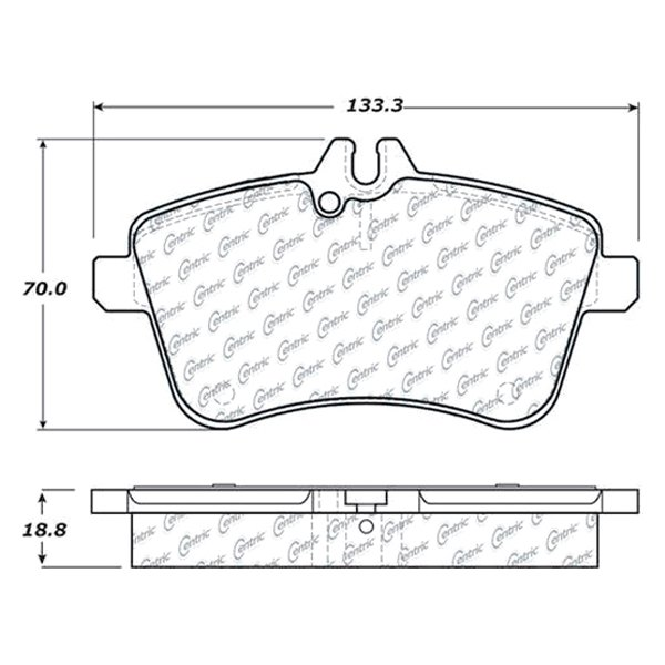 For Mercedes-Benz B200 06-11 Disc Brake Pads Formula 100