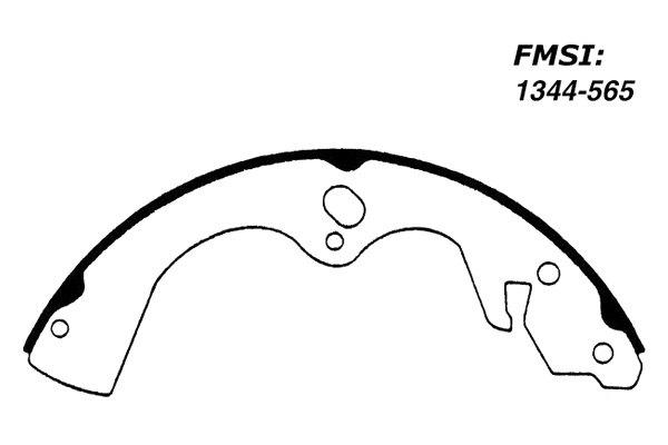For Mazda B2200 1987-1993 Centric 111.05650 Premium Rear