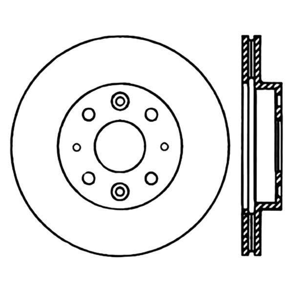 For Kia Rio 2003-2005 Centric Premium Vented Front Brake