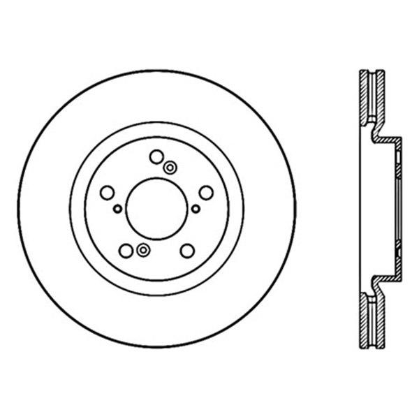 For Acura TL 2009-2014 Centric 121.40075 C-Tek Standard