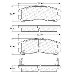 centric premium semi metallic rear disc brake padscentric  [ 1500 x 1500 Pixel ]