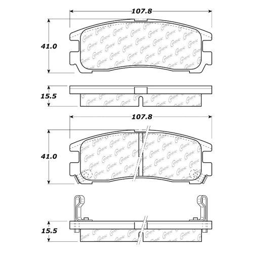 small resolution of centric premium semi metallic rear disc brake padscentric