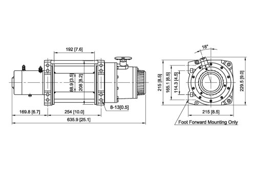 small resolution of  winch with wire rope and interated solenoid