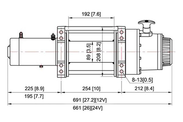 ComeUp 851840 18,000 lbs DV Electric Winch w Wire Rope