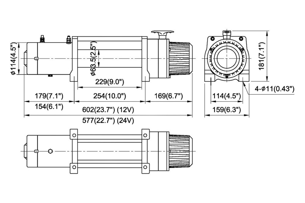 medium resolution of comeup winch with synthetic rope and interated solenoidcomeup