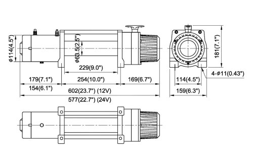 small resolution of comeup winch with synthetic rope and interated solenoidcomeup
