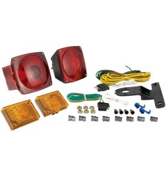 curt trailer light kit metallic base includes 20 ft wiring  [ 1000 x 1000 Pixel ]