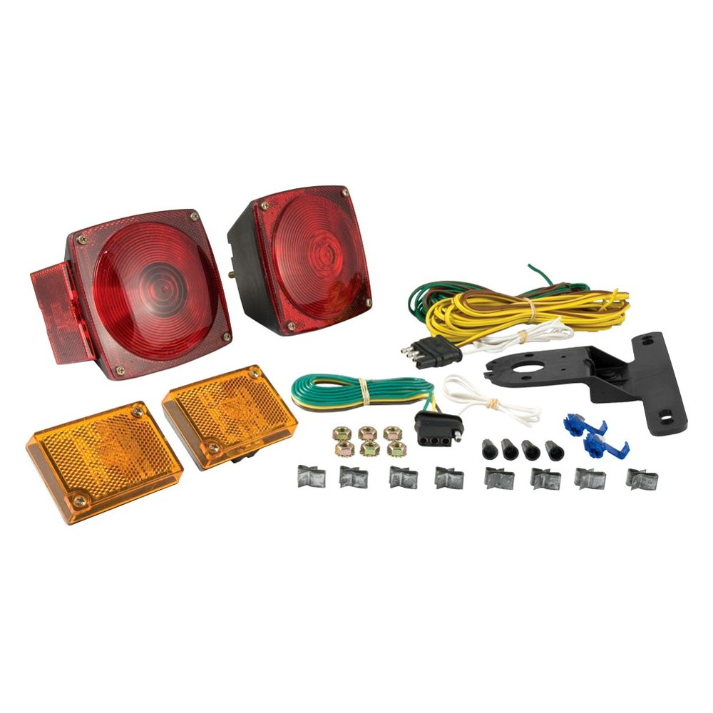 hight resolution of curt trailer light kit metallic base includes 20 ft wiring