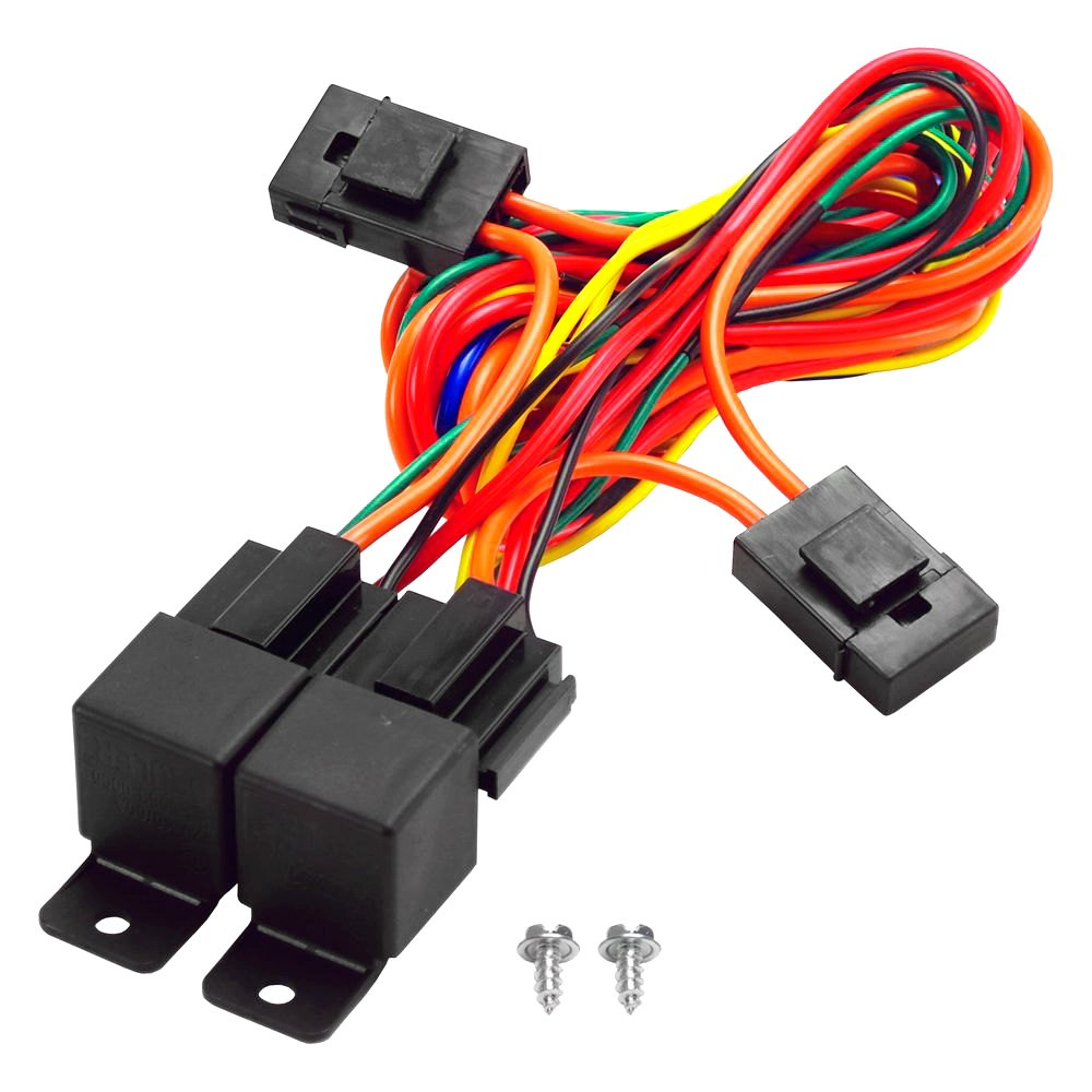 hight resolution of derale performance dual relay wire harness kit