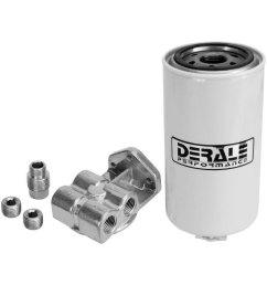 derale performance single mount 1 2 npt ports up fuel filter water separator  [ 1000 x 1000 Pixel ]