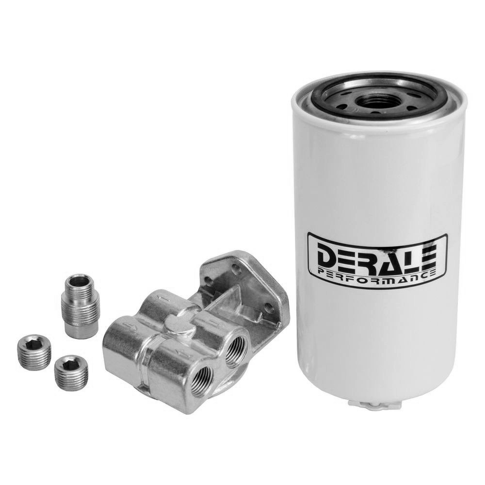 hight resolution of derale performance single mount 1 2 npt ports up fuel filter water separator