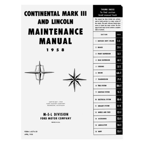 small resolution of  manualdetroit iron 1964 lincoln continental maintenance manualdetroit iron 1965 lincoln continental maintenance manualdetroit iron 1957 mercury