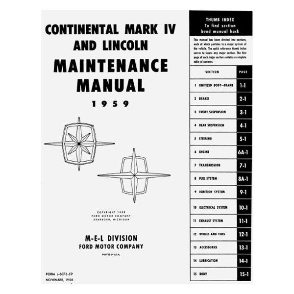 hight resolution of  maintenance manualdetroit iron 1965 lincoln continental maintenance manualdetroit iron 1957 mercury maintenance manualdetroit iron 1961 comet