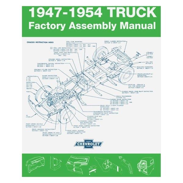 medium resolution of detroit iron 1947 1954 chevrolet truck factory assembly manual
