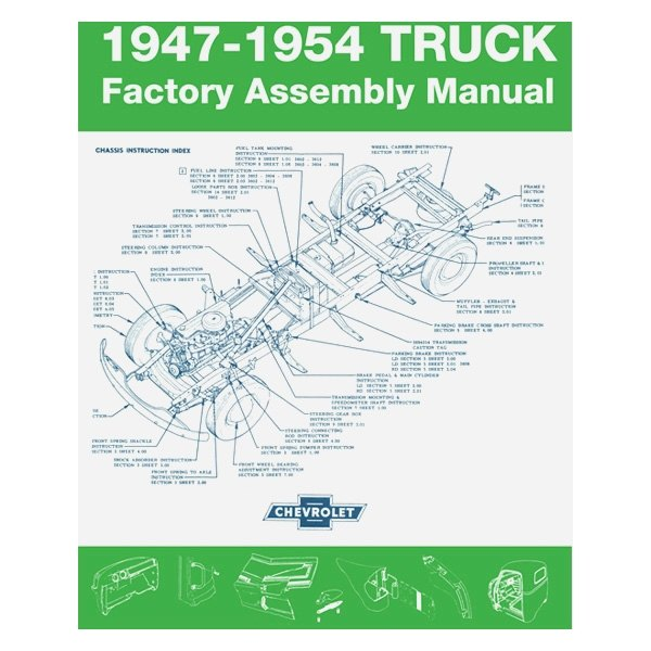 hight resolution of detroit iron 1947 1954 chevrolet truck factory assembly manual