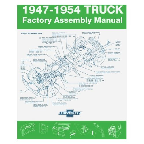 small resolution of detroit iron 1947 1954 chevrolet truck factory assembly manual