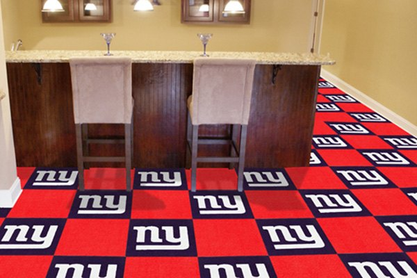 Fanmatsr 8543 New York Giants Logo On Carpet Tiles