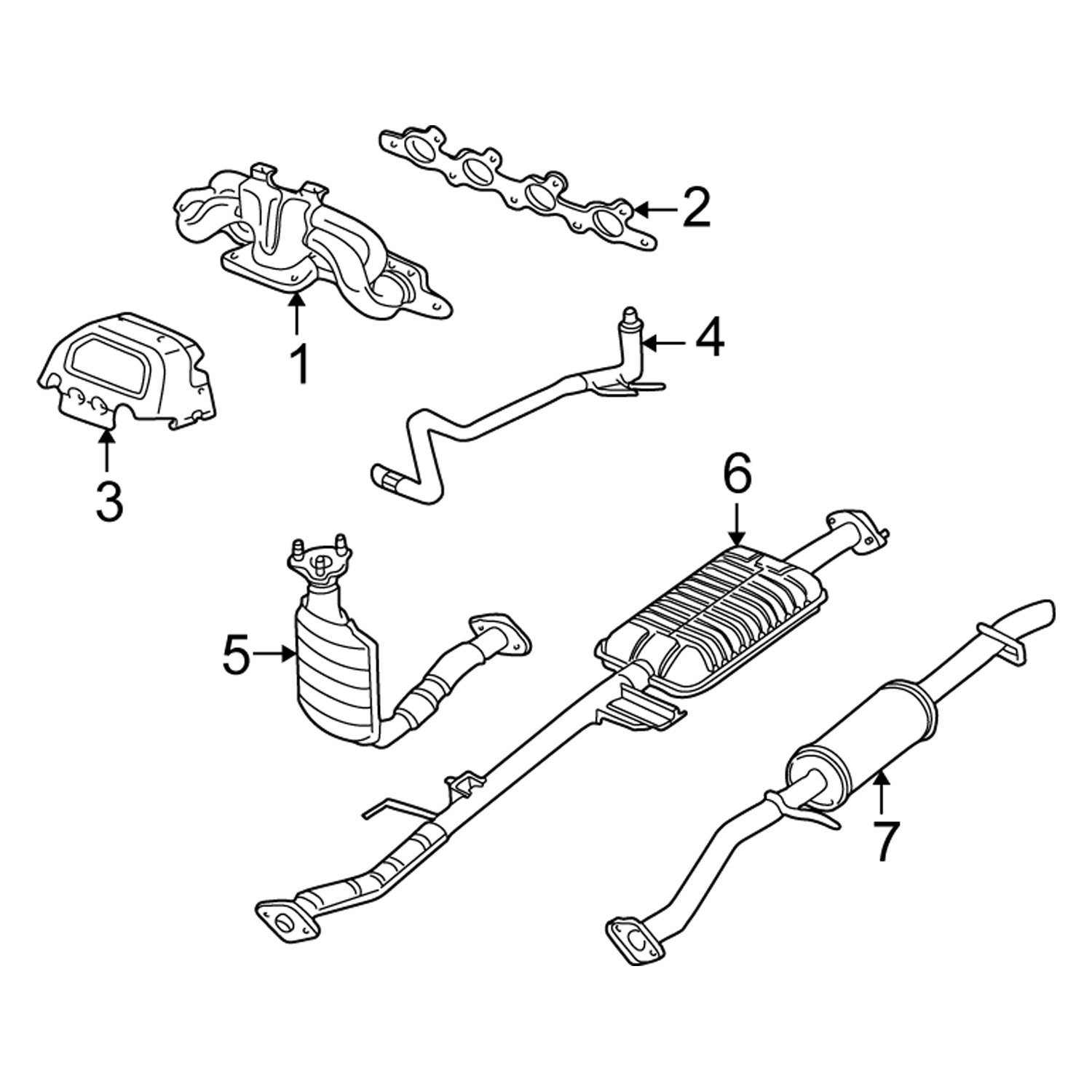 35 Ford Escape Exhaust System Diagram