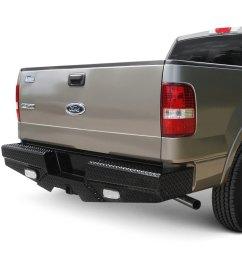 frontier truck gear diamond series full width rear hd black bumper [ 1000 x 1000 Pixel ]